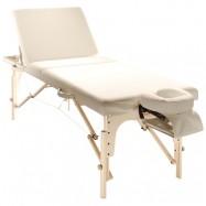 Складной массажный стол SM-4, деревянный